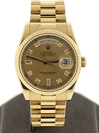 18k Gold 36mm Day-Date President - ref: 118238