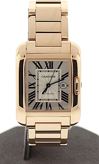 18k Rose Gold Cartier Tank Anglaise - Medium size
