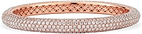 18K Rose Gold Pave Diamond Bangle- 16.40ct TW