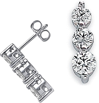 white gold earrings carat half diamond stud jeenjewels