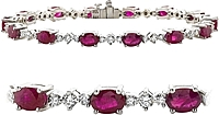 18k White Gold 10.85ctw Diamond & Ruby Bracelet
