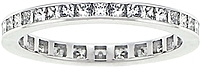 18k White Gold 1ct Channel-Set Princess Cut Diamond Eternity Band