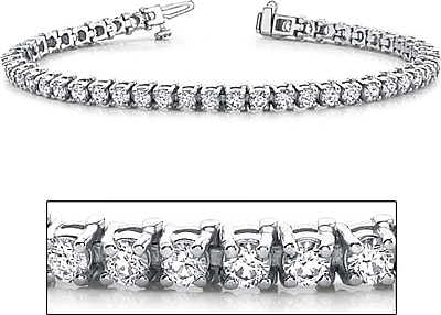 18k White Gold Diamond Tennis Bracelet 5ct Tw Assb8875