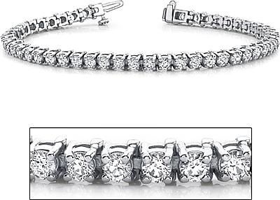 18k White Gold Diamond Tennis Bracelet 5ct Tw Assb8875