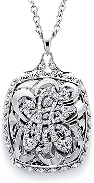 18k White Gold Initial Pendant available (A-Z) by Tacori