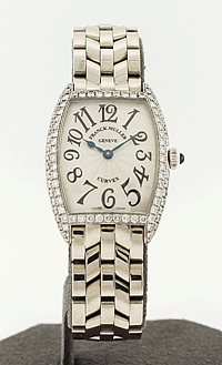 18k White Gold Ladies Franck Muller with DIamonds ref: 1752 QZ D