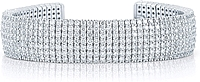 18K White Gold Pave Diamond Cuff -14.13ctw