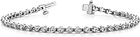 18k White Gold Two Prong Diamond Tennis Bracelet - 2ct tw