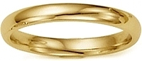 18k Yellow Gold Comfort-Fit Wedding Band - 2.5mm