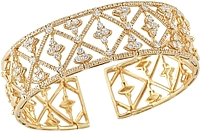 18K Yellow Gold Diamond Cuff-3.50ct TW