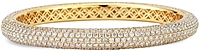 18K Yellow Gold Pave Bangle- 16.40ct TW