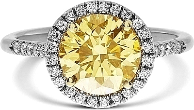 gia diamond brownish fancy round light brilliant yellow c view ring engagement cut photos