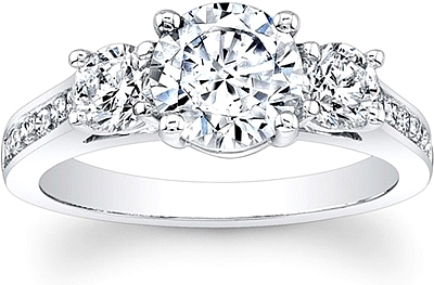 3Stone Channel Set Diamond Engagement Ring SCS1257C