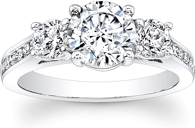 3 Stone Channel Set Diamond Engagement Ring Scs1257c