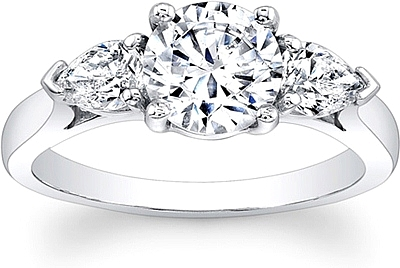 engagement pear diamond shaped rings wedding depot