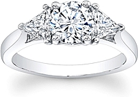 3-Stone Trillion Diamond Engagement Ring