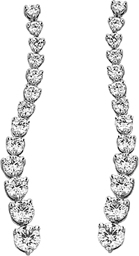 4.50ct Platinum Diamond Drop Earrings