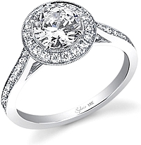 .52ct Round Brilliant Cut Sylvie Diamond Engagement Ring