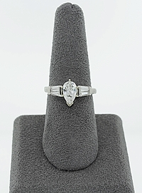 .87ct G/VS2 Pear Shape Diamond Engagement Ring