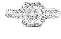 .90ct H/SI2 Round Brilliant Cut Diamond Engagement Ring