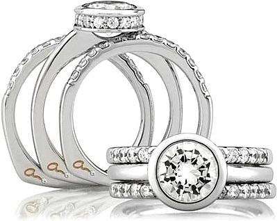 AJaffe Bezel Set Diamond Engagement Ring MES057121