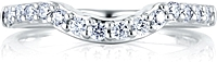 A.Jaffe Contoured Pave Diamond Wedding Band