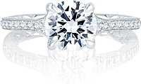 A.Jaffe French Pave Diamond Engagement Ring