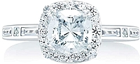 A.Jaffe Halo Diamond Engagement Ring