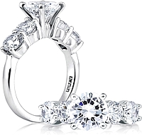 A.Jaffe Prong Set Diamond Engagement Ring