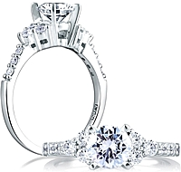 A.Jaffe Prong Set Diamond Engagement Ring Setting