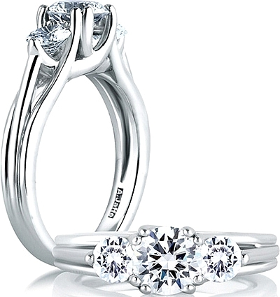 ring rings in trellis engagement solitaire palladium