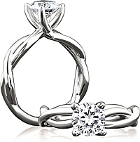 A.Jaffe Twist Shank Diamond Engagement Ring