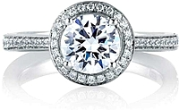 A.Jaffe Two-Tone Diamond Engagement Ring