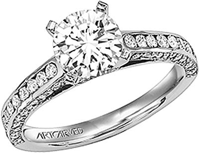Art Carved Channel Set Engagement Ring Ac 31v131fr