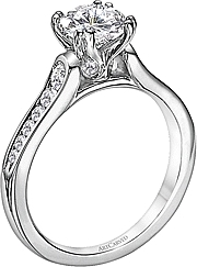 Art Carved Channel Set Engagement Ring