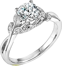 "Art Carved ""Corinne"" Diamond Engagement Ring"