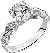 "Art Carved ""Gabriella"" Diamond Engagement Ring"
