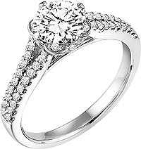 "Art Carved ""Jane"" Diamond Engagement Ring"