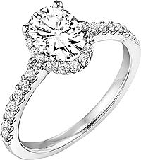 "Art Carved ""Kate"" Diamond Engagement Ring"