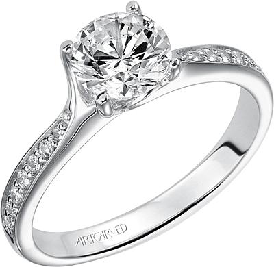 Art Carved Leah Diamond Engagement Ring AC 31V283