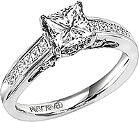Art Carved Princess Channel Set Diamond Band