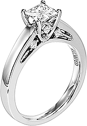 Art Carved Solitaire Engagement Ring