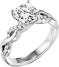 "ArtCarved ""Gabriella"" Diamond Engagement Ring"