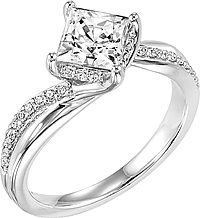"ArtCarved ""Stella"" Diamond Engagement Ring"
