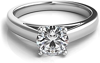 Cathedral Diamond Solitaire Engagement Ring