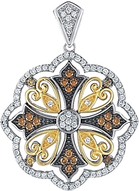 Chad Allison 18K & Sterling Silver Diamond Pendant