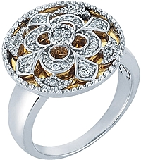 Chad Allison 18k Gold & Sterling  Silver Ring