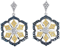 Chad Allison 18k Gold & Sterling Silver Diamond Earrings