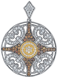 Chad Allison 18K Gold & Sterling Silver Diamond Pendant