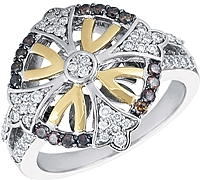 Chad Allison 18K Gold & Sterling Silver Diamond Ring